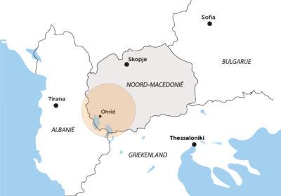 Kaart Noord-Macedonië