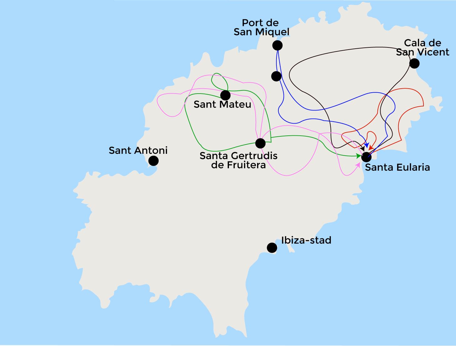 Kaart Ibiza