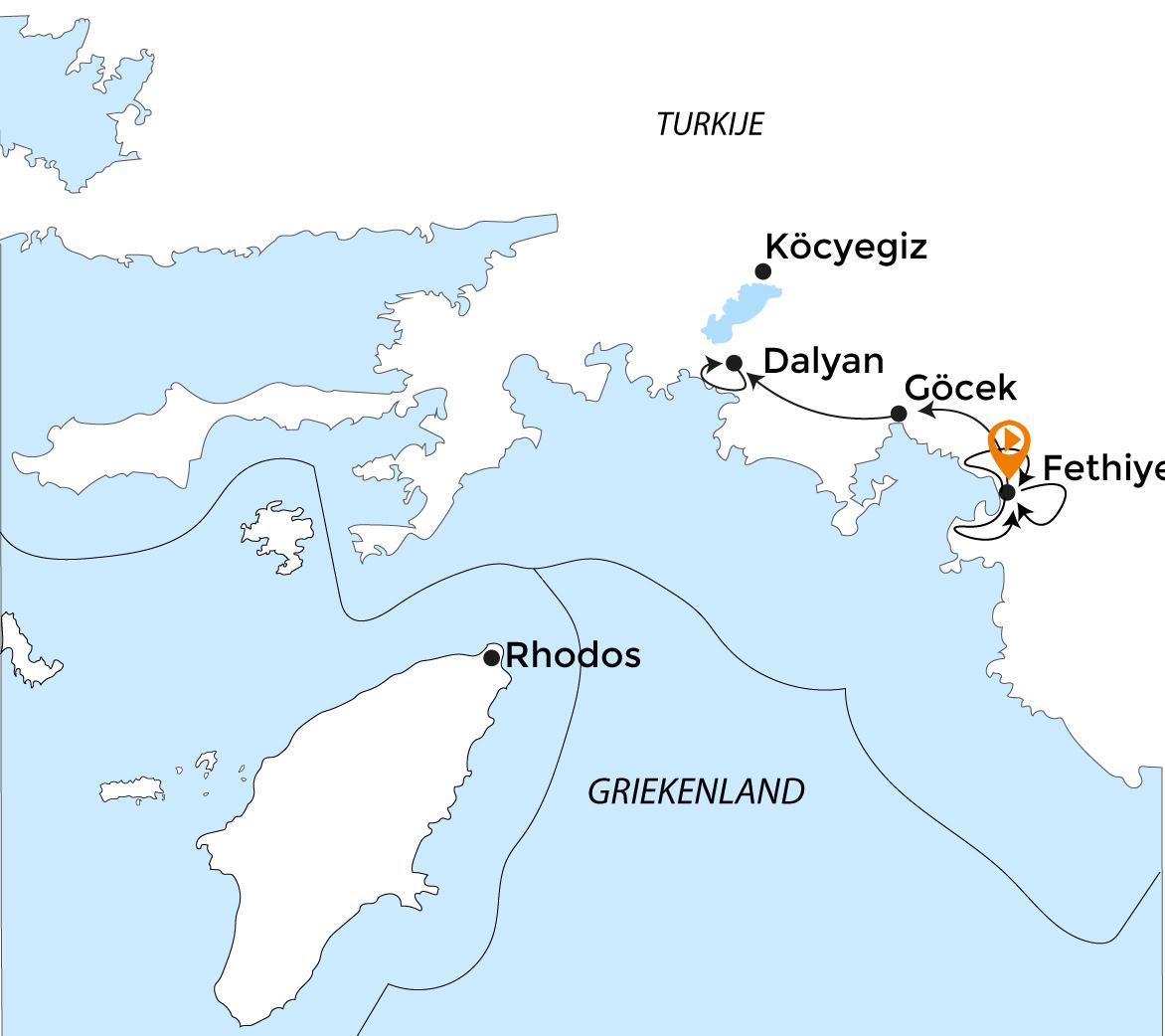 Routekaart Turkije MTB