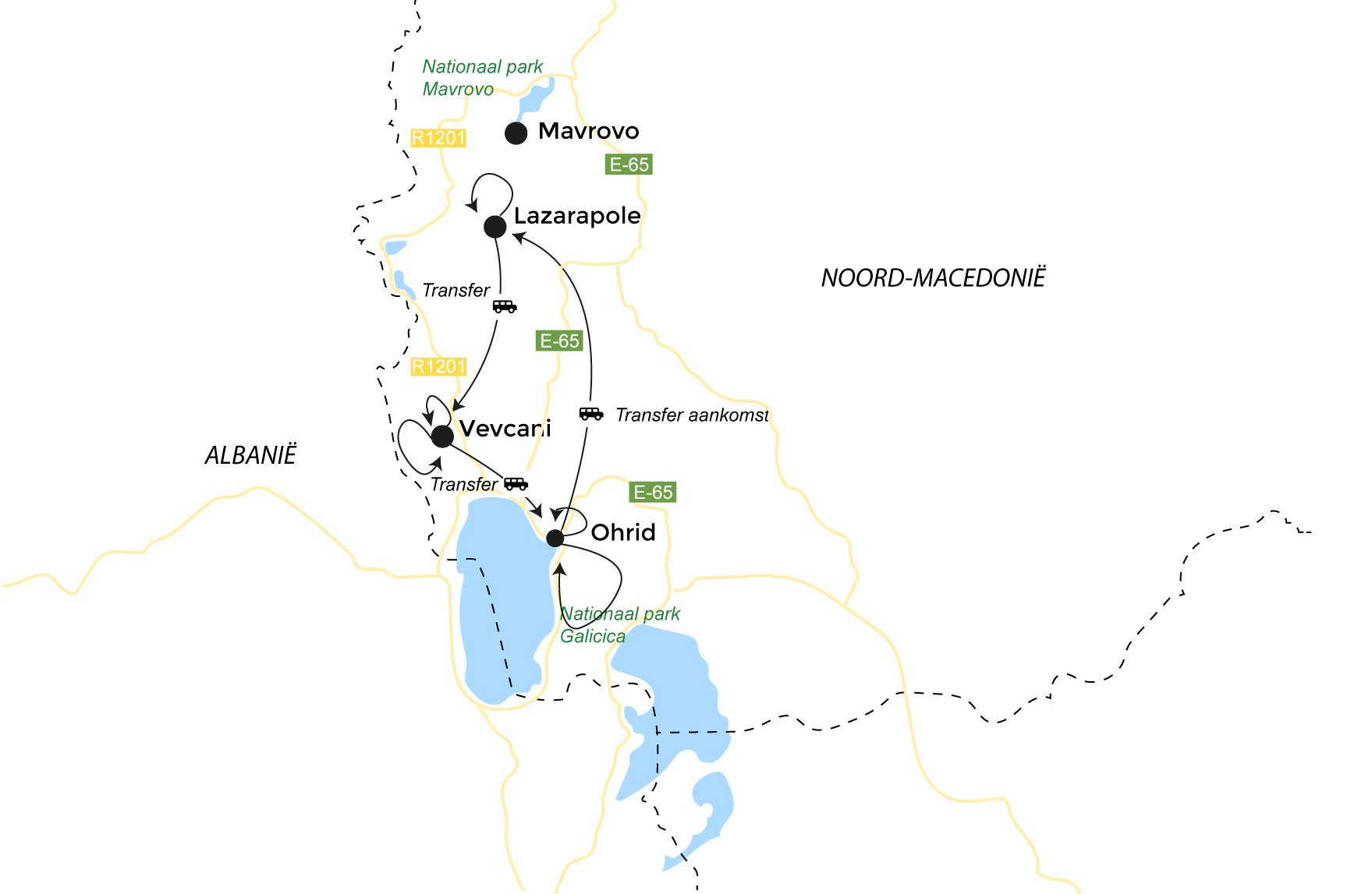 Routekaart Karische kust